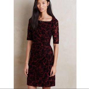 Maeve Elorn Wine Lace Short Sleeve Dress